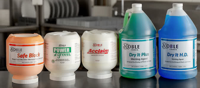 Noble Chemical Warewashing Hi Temp Products